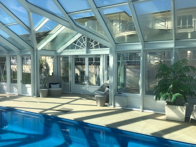 interior pool house enclosure