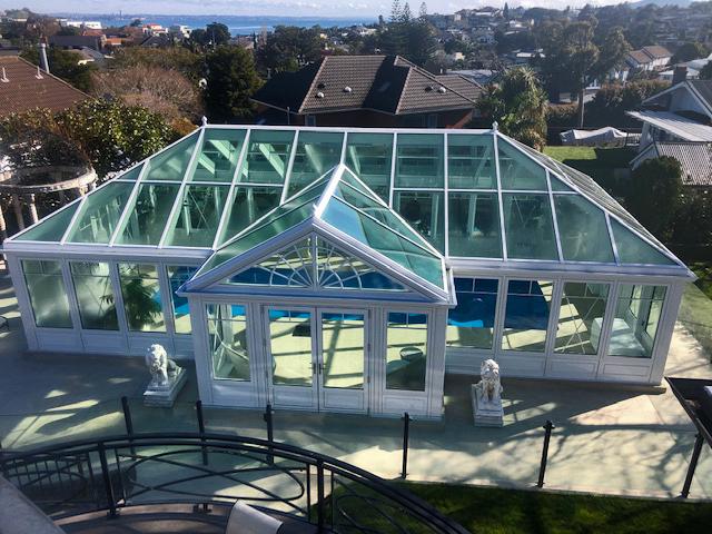 pool enclosure conservatory exterior