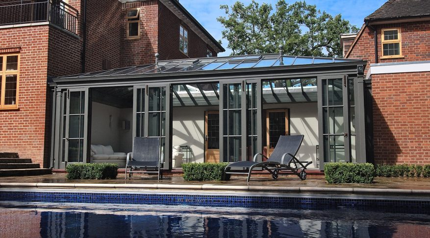 courtyard pool house conservatory