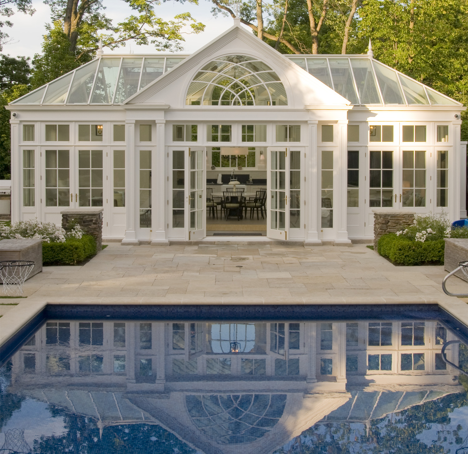 pool house reflection