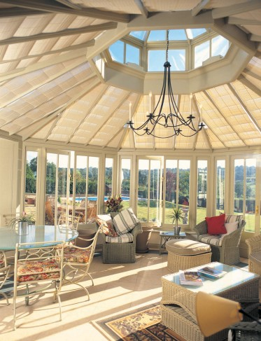 single bay conservatory shades