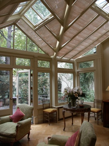 Pinoleum shades for conservatory