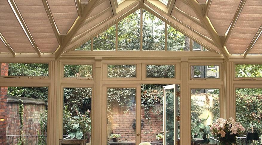 single bay conservatory blinds