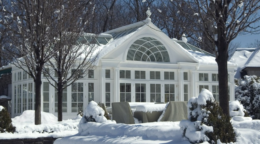 conservatory in winter