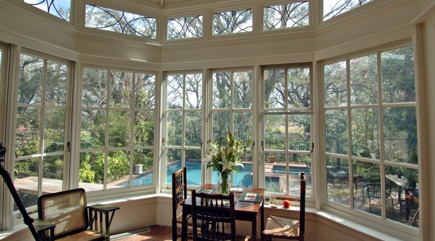 interior octagonal conservatory