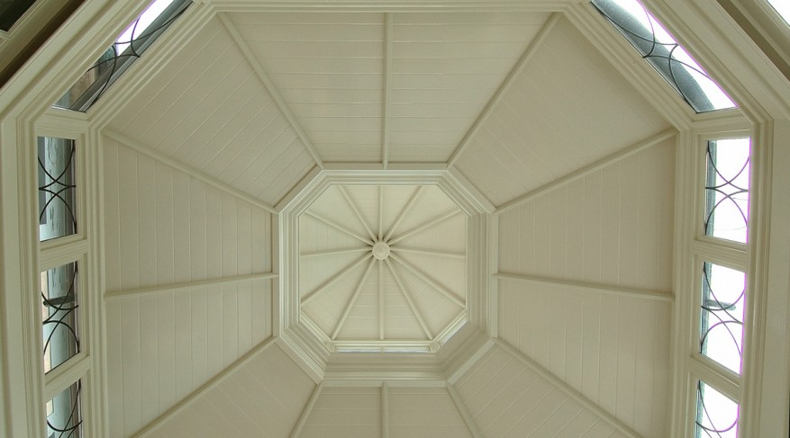 solid roof of conservatory