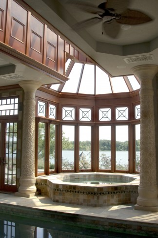 interior natural finish conservatory