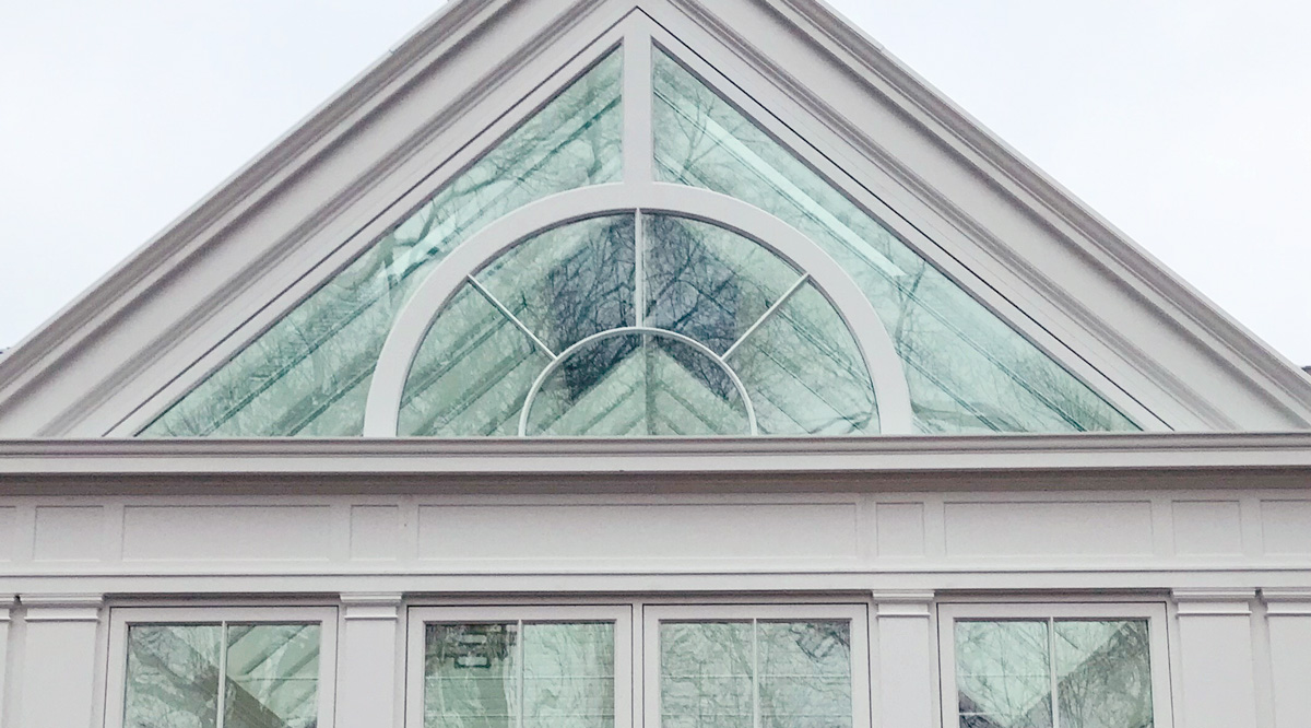 conservatory gable glazing pattern