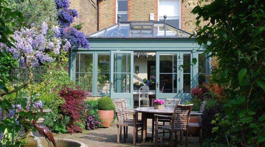 blue conservatory
