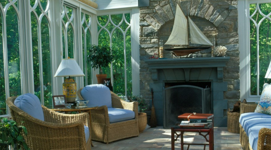 conservatory fireplace