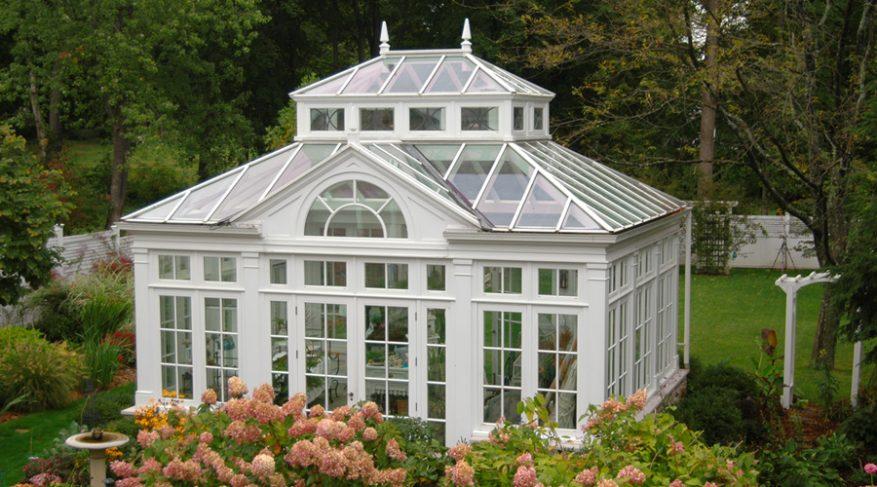 garden house conservatory double lantern