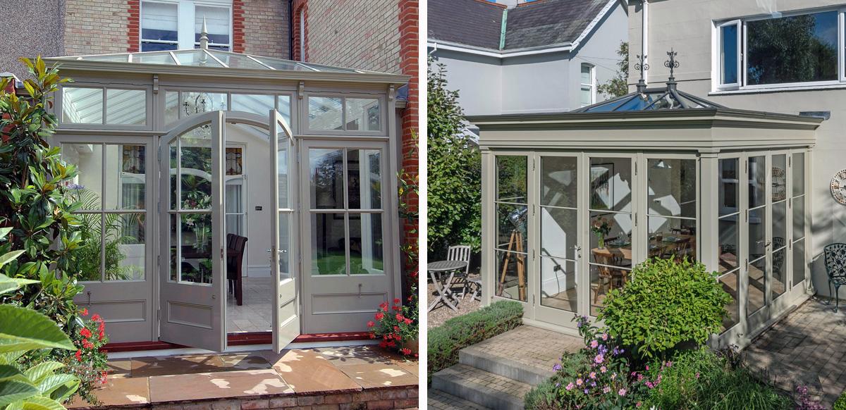 conservatory vs orangery exteriors
