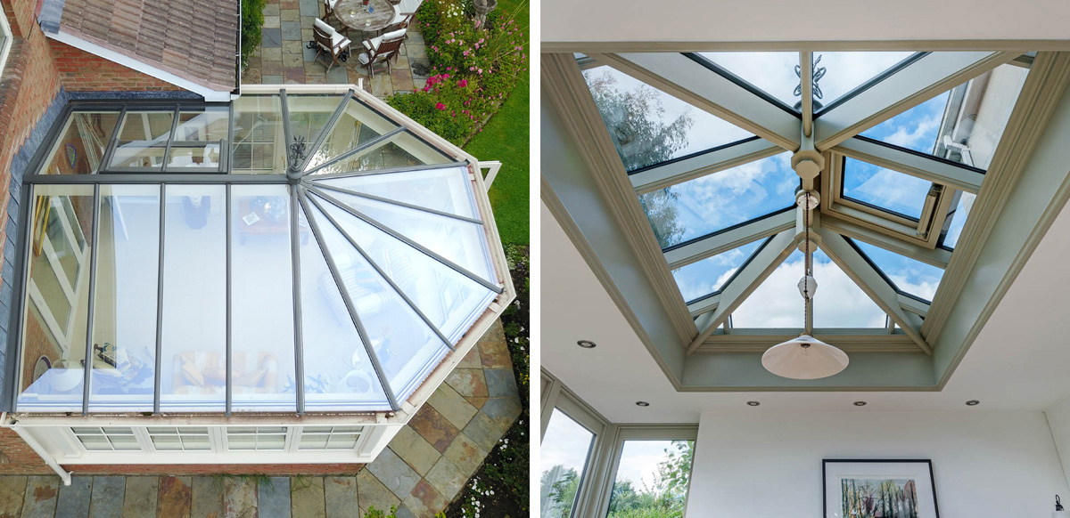 conservatory vs orangery roofs