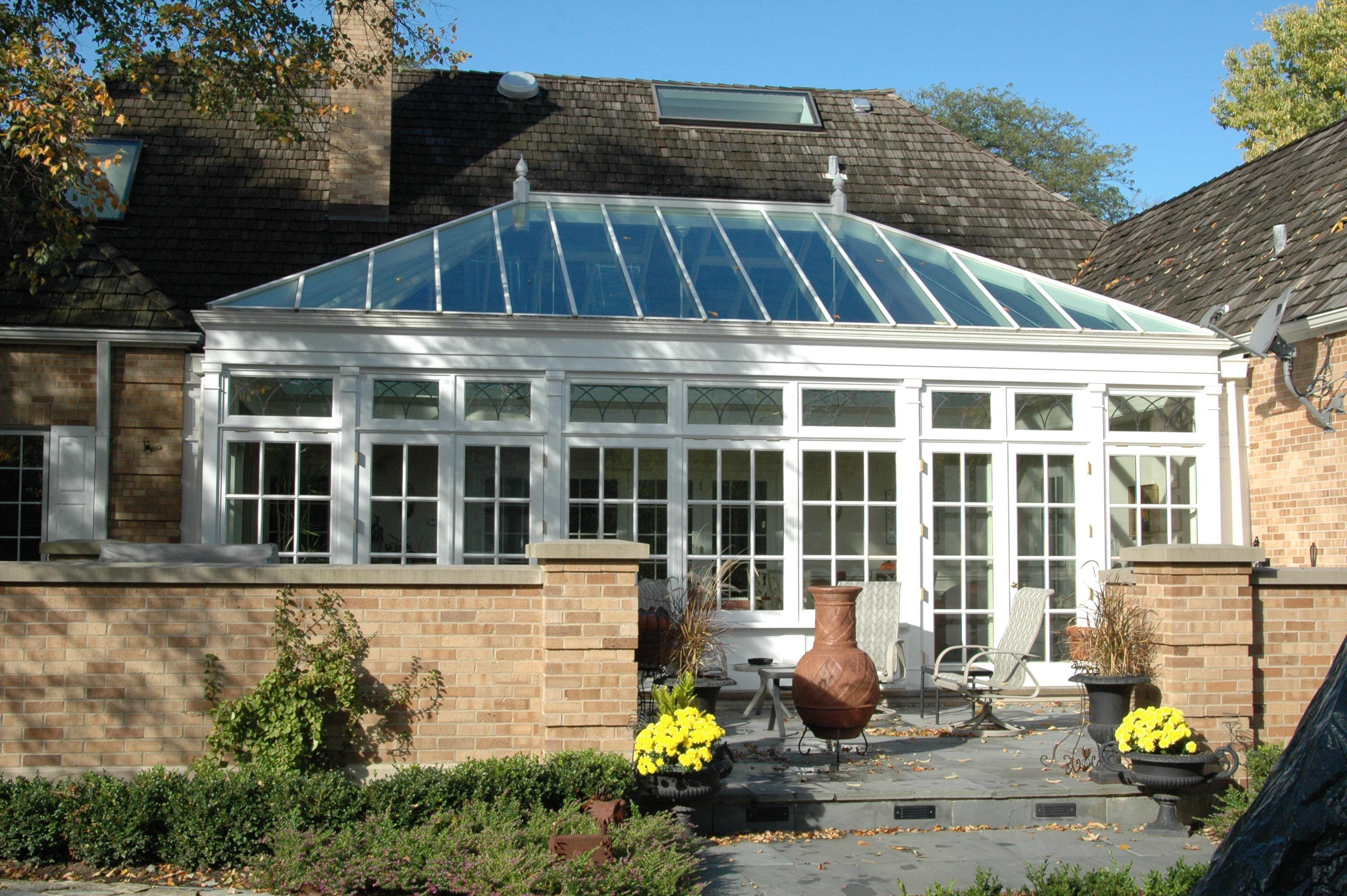 hardwood courtyard conservatory