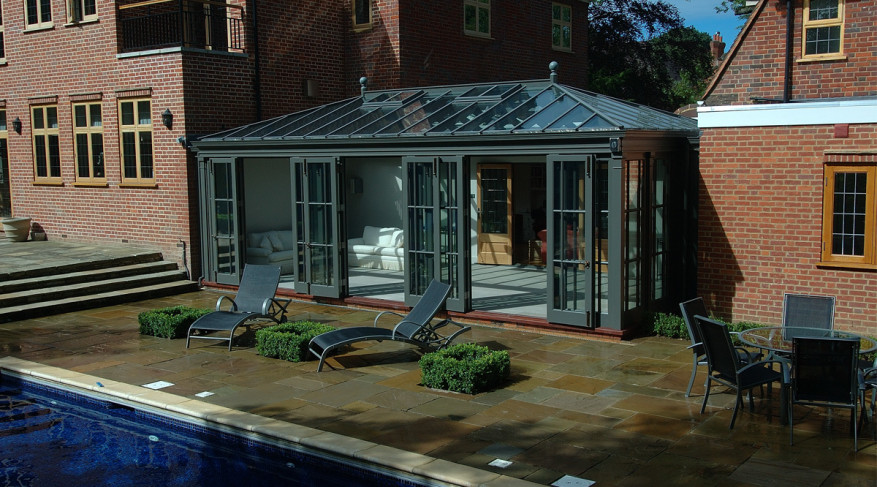 courtyard rectangular conservatory