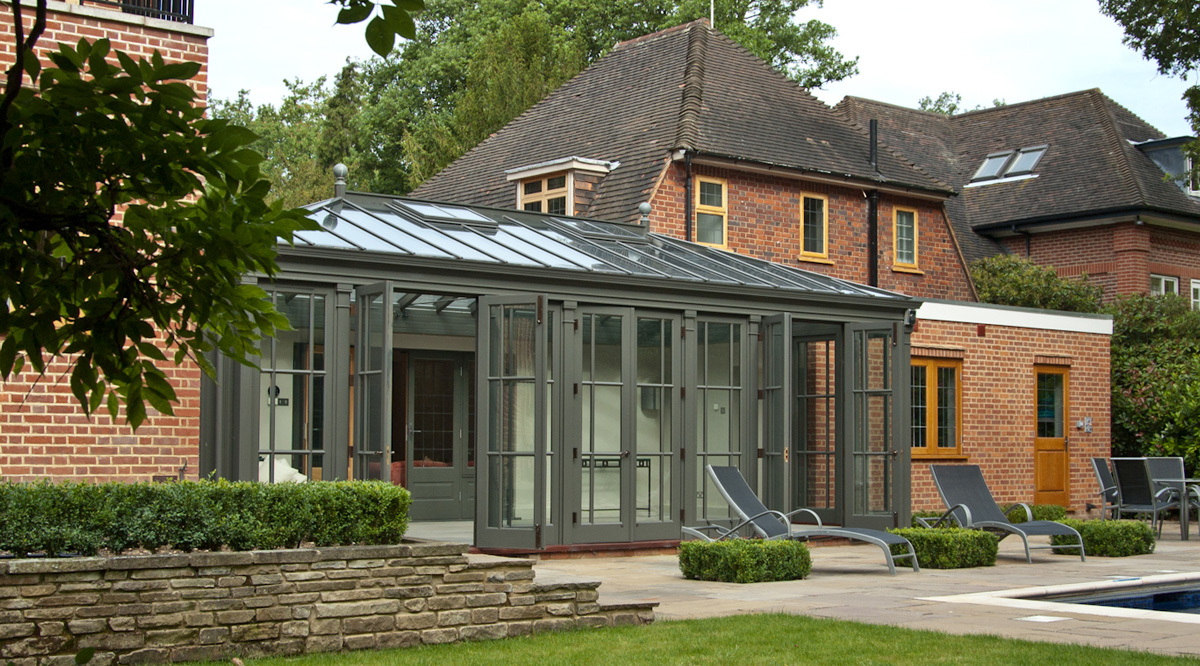 courtyard conservatory addition