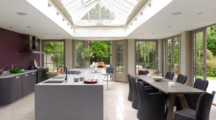 modern kitchen orangery