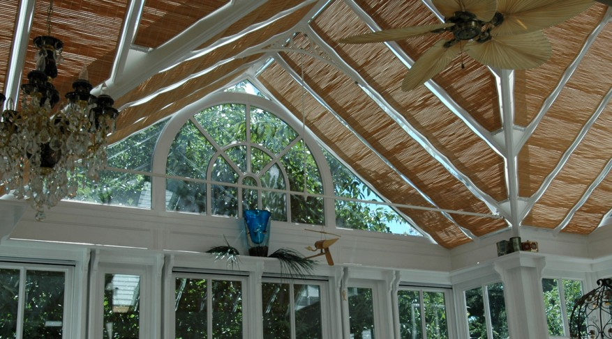 double gable conservatory shades