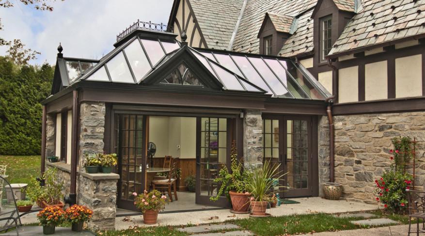black roof conservatory