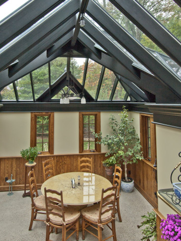 conservatory interior black roof