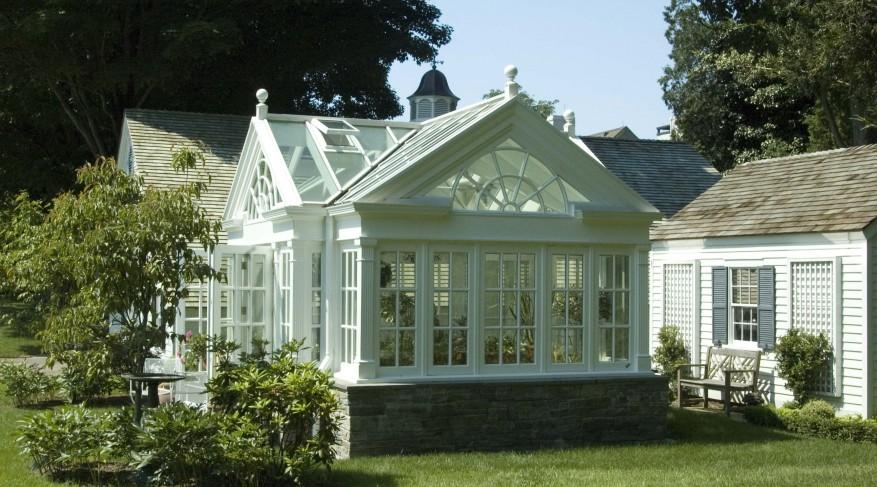 hardwood greenhouse conservatory