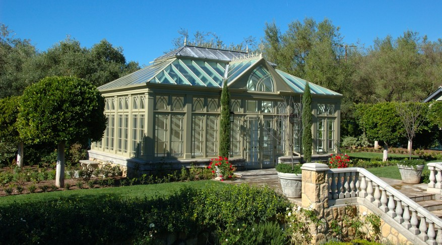 conservatory with solid zinc roof