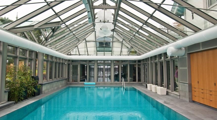interior glass pool enclosure