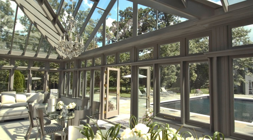 pool house conservatory interior
