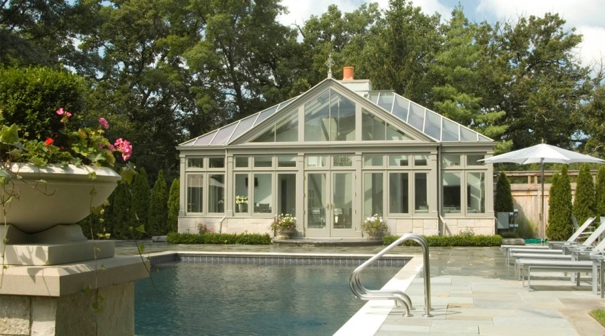 feature gable pool house conservatory