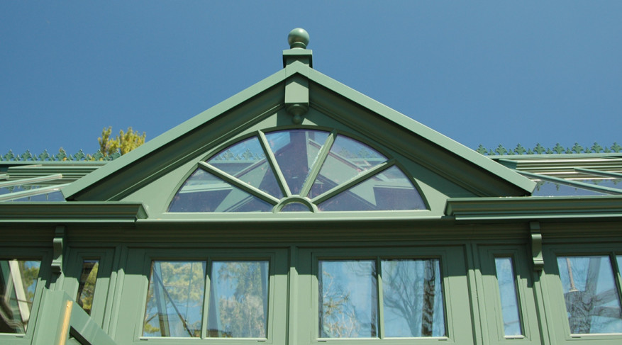radial glazing pattern