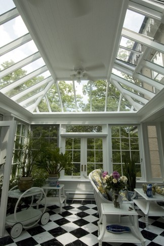 interior solid roof conservatory