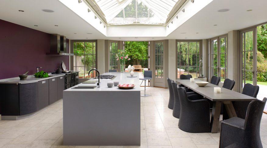 contemporary kitchen skylight