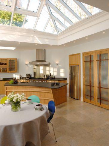 modern kitchen skylight