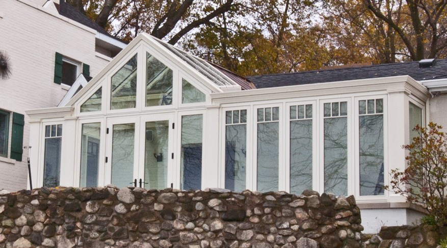 gabled lean to conservatory