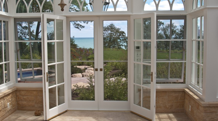 Screen doors of conservatory