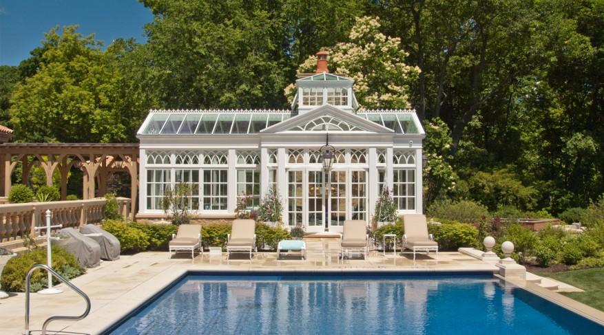 swimming pool house conservatory