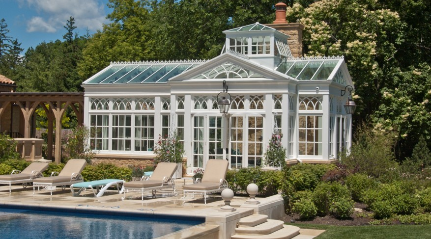 Pool side conservatory
