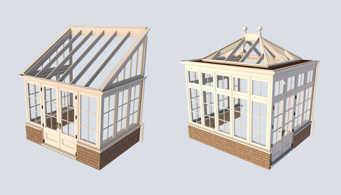 lean to and orangery conservatory