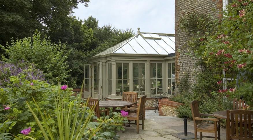 Morston Hall conservatory