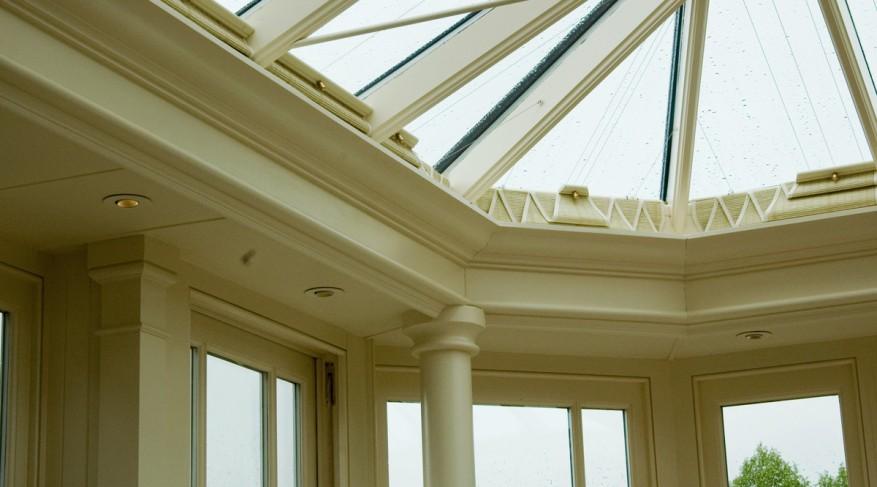 roman fold conservatory shades