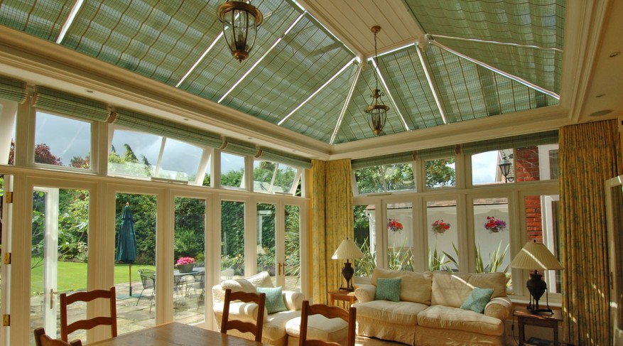 colored conservatory shades