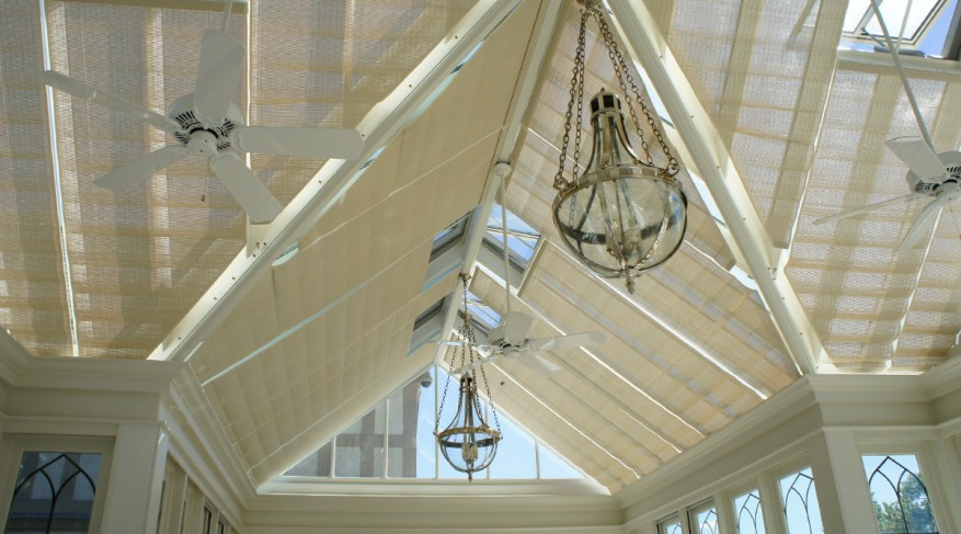 closed conservatory shades