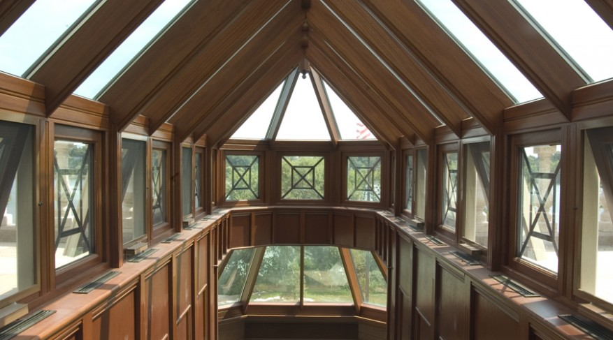 stretched octagonal skylight with sides