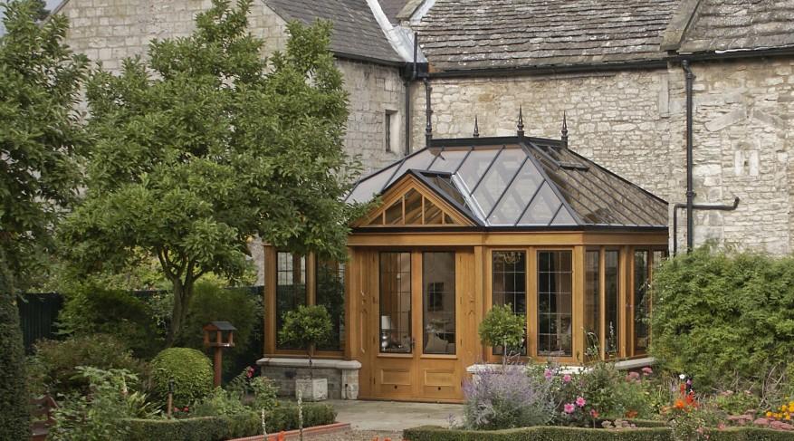 formal garden conservatory