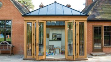oak and black conservatory