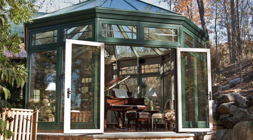 two-tone conservatory