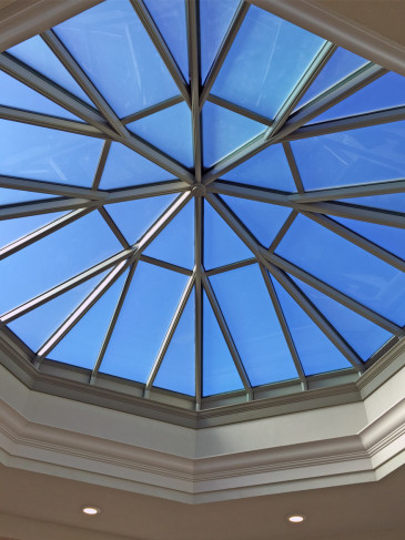 interior octagonal skylight