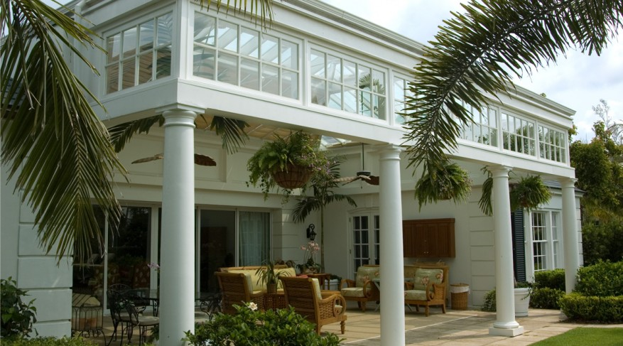 conservatory with columns