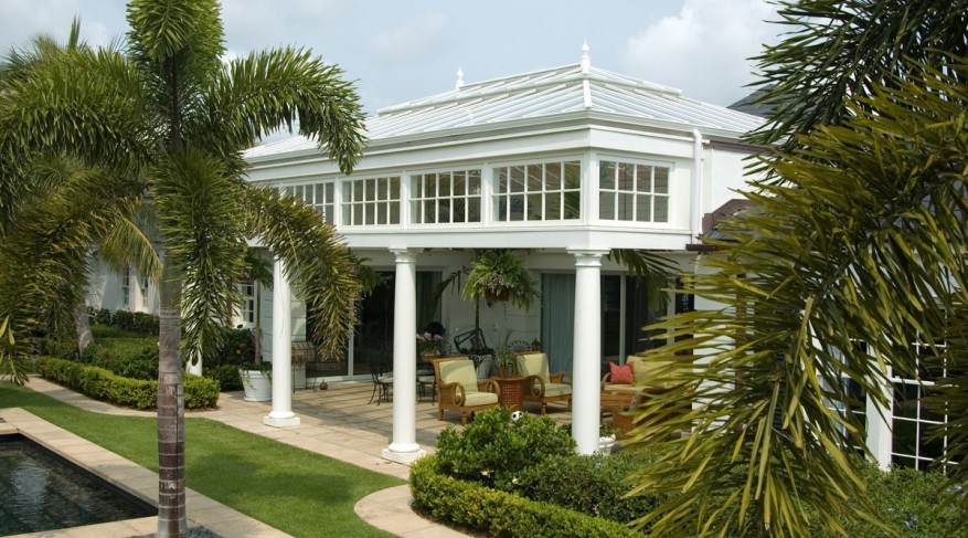 side view conservatory pool house