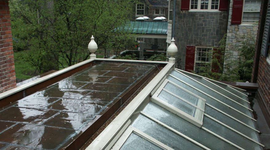flat roof orangery